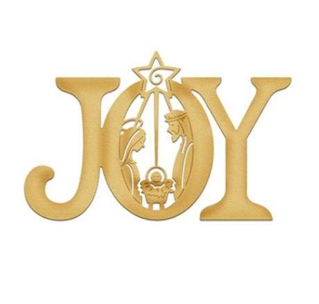 VT BigHome 8.9x5.7cm Joy Word Christmas Dies Metal Cutting Dies New 2018 Dies Scrapbooking Die Cuts Background Craft
