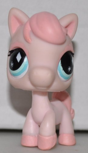 Loose Figure Littlest Pet Shop (Horse #592 (No Saddle: Pink, blue eyes) Littlest Pet Shop (Retired) Collector Toy - LPS Collectible Replacement Single Figure - Loose (OOP Out of Package & Print))