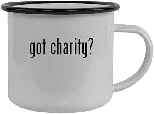 got charity? - Stainless Steel 12oz Camping Mug, Black