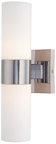 Minka Lavery Wall Light Sconce 6212-77 Reversible Glass Vanity Lighting, 2 Light, 120 Watts, ()