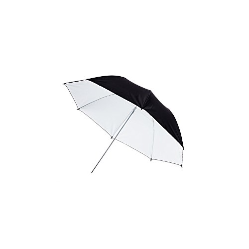 Fovitec - 1x 33 inch White Photography & Video Reflector Umbrella - [Easy Set-up][Lightweight][Cast-Iron][Collapsible][Durable Nylon] by Fovitec