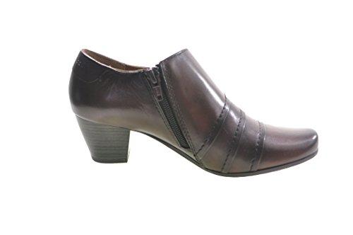 Caprice - Zapatos de vestir de cuero para mujer marrón Dark Brown