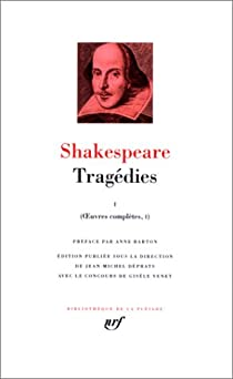 Tragédies, tome 1  par Shakespeare