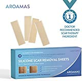 Aroamas Professional Silicone Scar Removal Sheets for Scars Caused by C-Section, Surgery, Burn