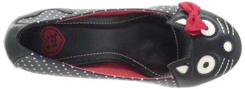 T.U.K.Character - Zapatos de Vestir Mujer Negro - Noir (Black/White/Polka Dot/Red Bow)
