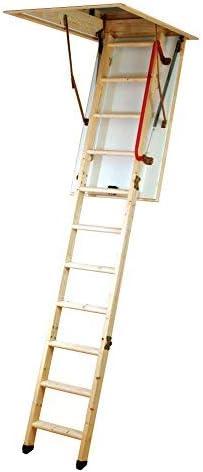Youngman Eco S Line - Escalera y trampilla de madera para desván: Amazon.es: Bricolaje y herramientas