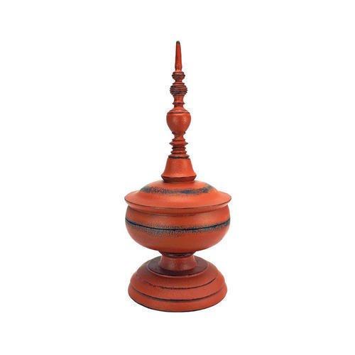 Deco 16In Finial Statue Design Asian Vase Finial Replica Art Deco Home Garden Decor Finials