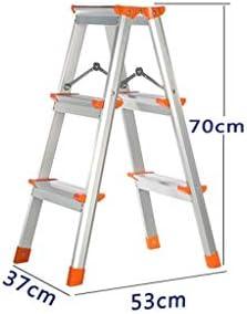 Escalera plegable Aleación de aluminio ultraligero Escalera, de doble cara Ingeniería de escalera de arriba Pedal Ampliación seguridad de la escalera antideslizante Refuerzo de tijera Multifuncional: Amazon.es: Bricolaje y herramientas