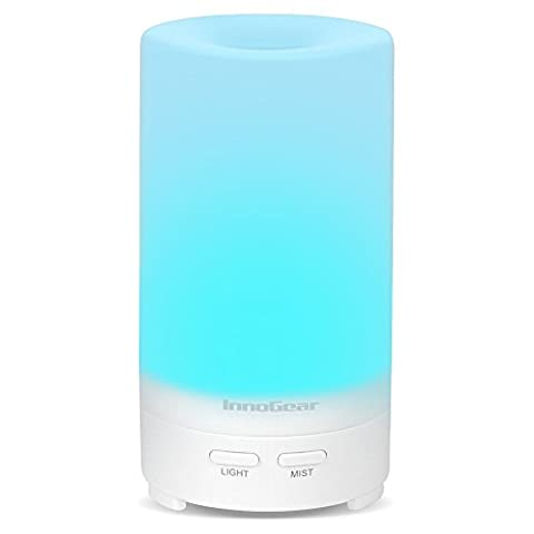 InnoGear USB Aromatherapy Essential Oil Diffuser Portable Aroma Humidifier Air Refresher Purifier with 7 Colorful LED lights for Office Home Car Vehicle (Home Air Filter Holder)