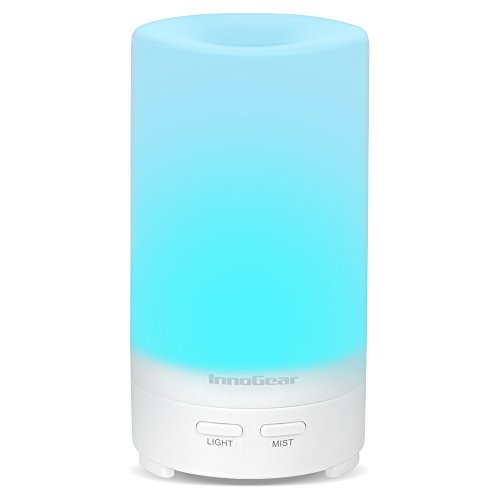 InnoGear USB Aromatherapy Essential Oil Diffuser Portable Aroma Humidifier Air Refresher with 7 Colorful LED lights for Office Home Car Vehicle Travel