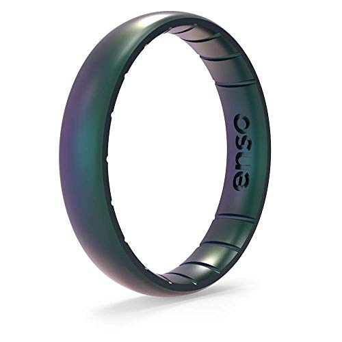 Enso Rings Thin Legend Silicone Ring - Made in The USA - Ultra Comfortable, Breathable and Safe - Award Winning Customer Service (7, Mermaid)