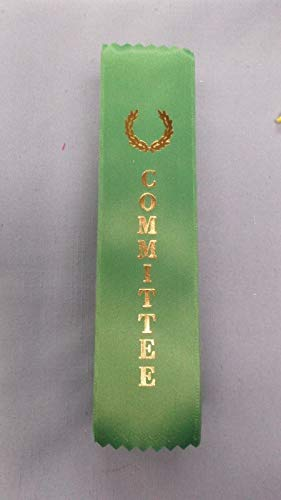 (Committee Green Ribbon with Gold foil Letters Wreath lot of 25)