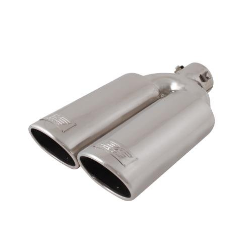 DC Sport EX-2012 Stainless Steel Oval Slant Cut Bolt-on Exhaust - Cut Tip Exhaust Slant