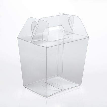 Upscale Gable Style Clear Take-Out Box | Large - Size: 4 13/16