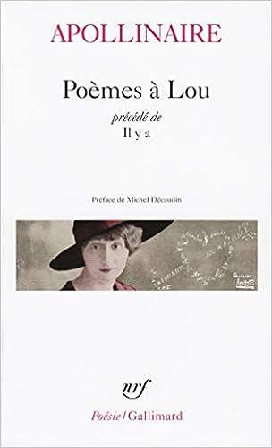 Poèmes à Lou Il Y A Poésie Amazones Guillaume