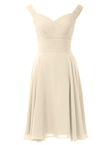 Alicepub Evening Short Chiffon Party Gown Bridesmaid Champagne Bridal Line Cocktail Dress A q7rq4pn