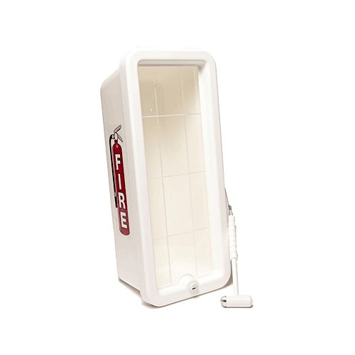 CATO 11001-H White Plastic Chief Fire Extinguisher Cabinet for 10 lb. Extinguisher, with Hammer and Cylinder Lock
