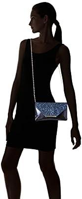 Jessica McClintock Riley Glitter Crystal Flap Clutch