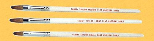 Sable Flat Nail (Tammy Taylor Acrylic Nail Custom Sable Flat Brush MEDIUM - 1 ct)