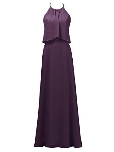 Maxi Long A Gown Line Dress Dress Grape Alicepub Chiffon Bridesmaid Party Evening Bridal CSPawHdHqn