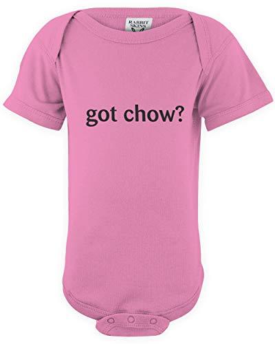 - shirtloco Baby Got Chow Infant Bodysuit, Raspberry Newborn