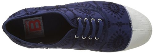 Bensimon Tennis Lacet Broderie Anglaise - Botas Mujer azul (Marine)