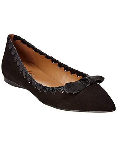 Sole Suede French Flats (French Sole Matador Suede Flat, 7.5, Black)