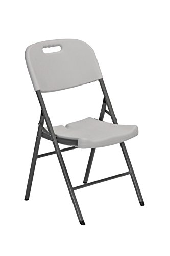 Sandusky Lee FPC182035 Resin Folding Chair with Molded Seat and Back, White (Pack of 4)