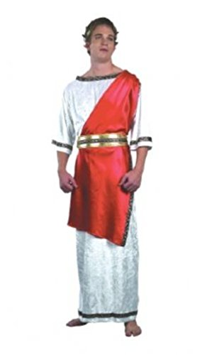 Roman Grecian Fancy Party Costume Male Greek Guy Ancient Times Complete Dress (Ancient Greek Outfits)