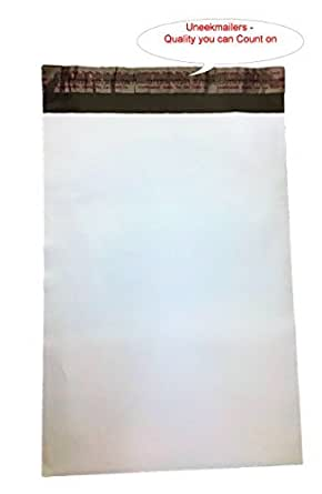Amazon.com: 7,5 x 10.5 uneekmailers Color Blanco Poly Mailer ...