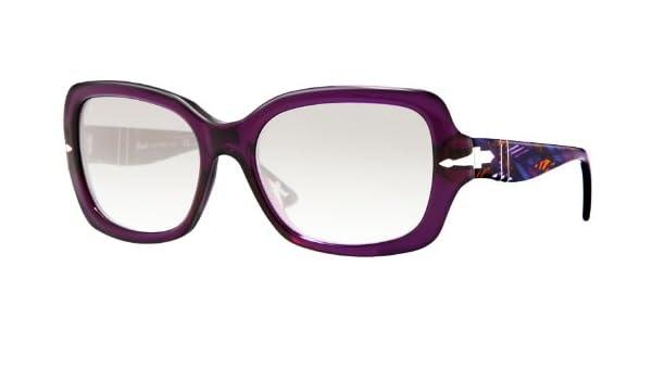 1c225ed1b8 Amazon.com  Persol Women s 2949 Dark Violet Frame Grey Gradient Lens  Plastic Sunglasses