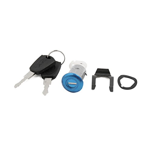 uxcell a16092100ux0411 Cylinder Security Sitting Seat Lock w 2 Keys Set for Motorcycle Scooter