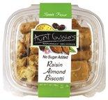 Aunt Gussies Spelt Raisin Almond Biscotti, 8 Ounce -- 8 per case. (Spelt Raisin)