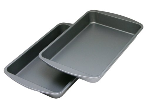 OvenStuff Non-Stick Biscuit/Brownie Pan Two Piece Set