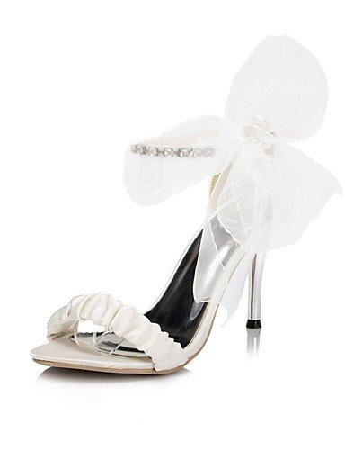 GGX/ Damen-Hochzeitsschuhe-Zehenfrei-Sandalen-Hochzeit / Kleid / Party & Festivität-Elfenbein / Weiß 3in-3 3/4in-white