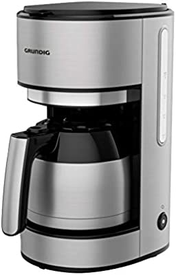Grundig - Cafetera con jarra térmica (1000 W, acero inoxidable ...