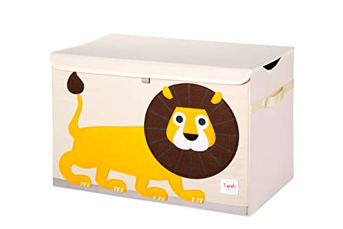 - 3 Sprouts Kids Toy Chest, Large Storage for Boys and Girls Room, Lion