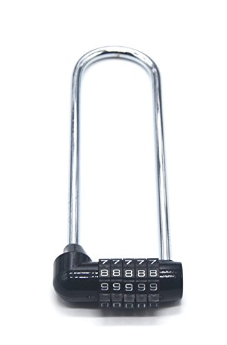 Combination Lock, Combination Padlock, Long Shackle Security Lock for Home, School, Office, Warehouse, Fence, Storage Lockers, Gym Lockers, Cabinets, Drawers, Toolboxes - With You6688 - 1 Pack - Long