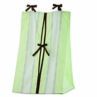 Bacati - Metro Lime/White/Chocolate Diaper Stacker