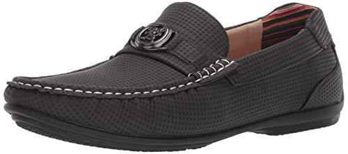 STACY ADAMS Men's CYD Slip-On Driver Loafer Driving Style, Charcoal 13 M US