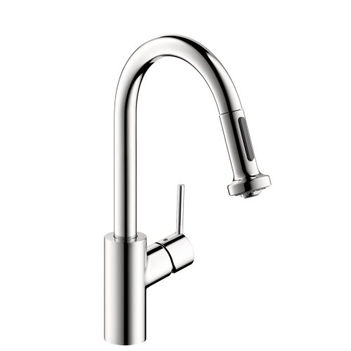 Hansgrohe 04286000 Talis S 2 Prep Kitchen Faucet with 2-Spray Pull Down, Chrome (Hansgrohe Chrome Spray Faucet)