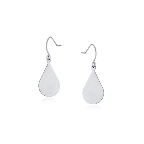 Samie Collection Stainless Steel Pear-shaped Earrings, (Diamond Shaped Turquoise Post Earrings)