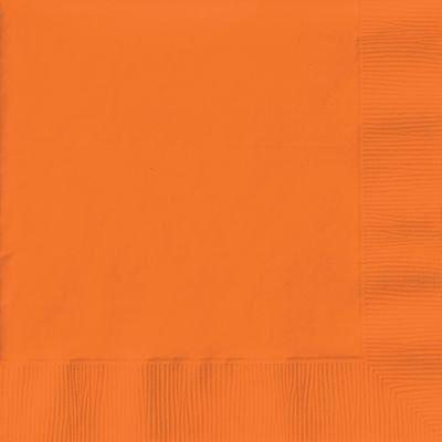 "Beverage Napkins 9-7/8""X7-7/8"" 50/Pkg-Sunkissed Orange"