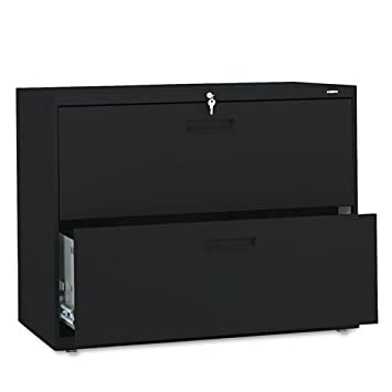 HON 582LP 500 Series 36 by 28-3-8 by 19-1-4-Inch 2-Drawer Lateral File - Black