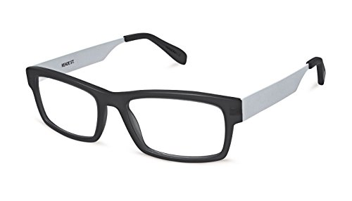 Scojo New York Reade Street Black/Silver Reading Glasses (+1.25 Magnification Power) (Scojo Reading Glasses Street)