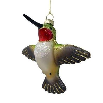 Cobane Studio Ornament Male Ruby Throated Hummingbird Flying: Home & Kitchen