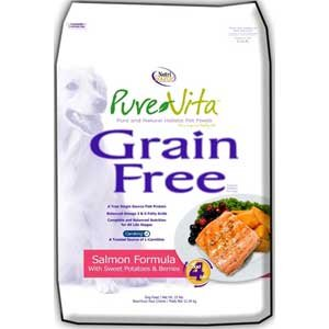 Pure Vita Grain Free Salmon & Peas Dog Food 5 lbs