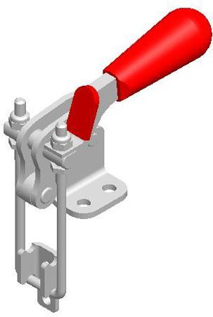 De-Sta-Co Pull-Action Latch Clamp, Flange base, M8 thd. Size, w/2,000 lbs. cap., Stain. Steel (1 Each)