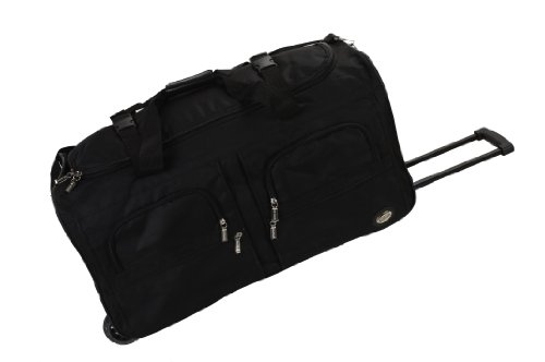 Rockland Luggage 36 Inch Rolling Duffle Bag, Black, Large ()