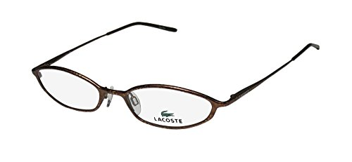 Lacoste 12203 Womens/Ladies Cat Eye Full-rim Eyeglasses/Spectacles (47-17-130, Demi Brown)